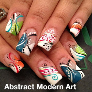 Nail designs envy nail spa nail design abstract modern art prinsesfo Choice Image