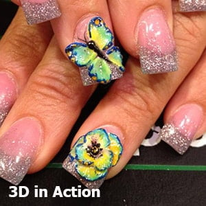 3D in Action Nail Design