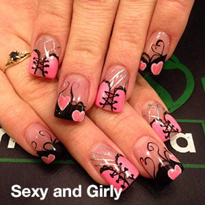 Sexy-and-Girly Nail Art